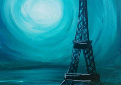 Eiffel Tower - Turquoise