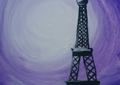 Eiffel Tower - Purple